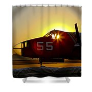 Fire Fighting Aircraft Shower Curtain