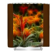 Fire Flowers 5227 Shower Curtain