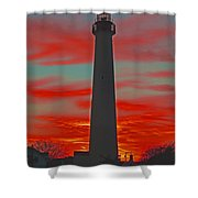 Fire Frames The Lighthouse Shower Curtain