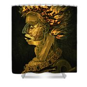 Fire Shower Curtain by Giuseppe Arcimboldo