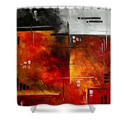 Fire Hazard Original Madart Painting Shower Curtain