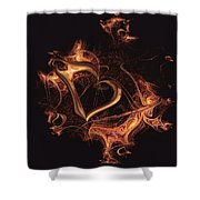 Fire Heart Shower Curtain