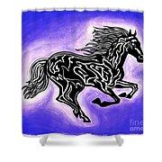 Fire Horse 2 Shower Curtain