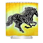 Fire Horse 3 Shower Curtain