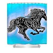Fire Horse 5 Shower Curtain