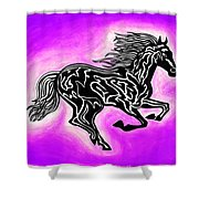 Fire Horse 7 Shower Curtain