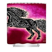 Fire Horse Blaze 4 Shower Curtain