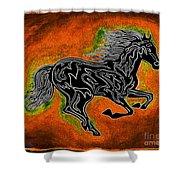 Fire Horse Neona 4 Shower Curtain