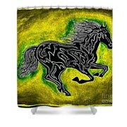 Fire Horse Neona 5 Shower Curtain