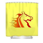 Fire Horse Shower Curtain