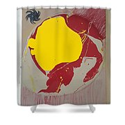 Fire Hydrant Crab Rocket Shower Curtain
