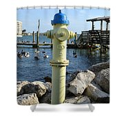 Fire Hydrant Shower Curtain
