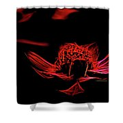 Fire In Abstract Shower Curtain