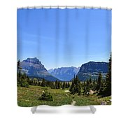 Fire In Glacier National Park Shower Curtain