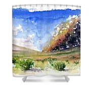 Fire In The Desert 1 Shower Curtain