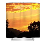Fire In The Sky 1 Shower Curtain