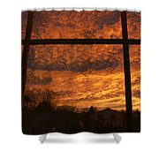 Fire In The Sky 2 Shower Curtain