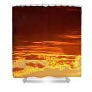 Fire In The Sky 3 Shower Curtain
