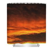 Fire In The Sky Two Shower Curtain