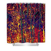 Fire In The Trees Shower Curtain