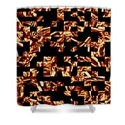 Fire Jumble Shower Curtain