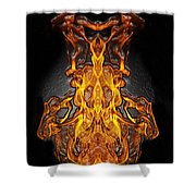 Fire Leather Shower Curtain