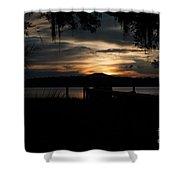 Fire Light Sunset Shower Curtain