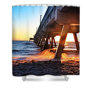 Fire Morning Shower Curtain