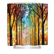 Fire Night Shower Curtain
