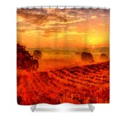 Fire Of A New Day Shower Curtain