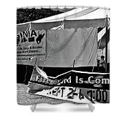 Fire Of God Is Coming Bw Shower Curtain