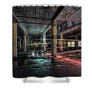 Fire Over Ice Shower Curtain