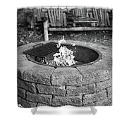 Fire-pit Shower Curtain