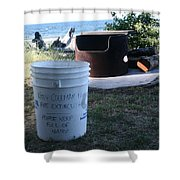Fire Prevention - Vanvouver Island - Ca Shower Curtain