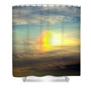 Fire Rainbow Shower Curtain