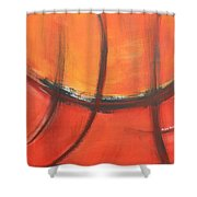 Fire Red Shower Curtain