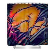 Fire Ring Sunset Shower Curtain