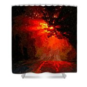 Fire Road Shower Curtain