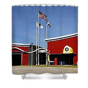 Fire Station Disney Style Shower Curtain