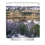 Fire Temple And New Fire House Ruins Shower Curtain