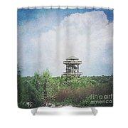 Fire Tower Shower Curtain