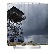 Fire Tower On Bald Mountain Surrounded Shower Curtain