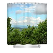 Fire Tower View - Pipestem State Park Shower Curtain