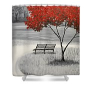 Fire Tree Shower Curtain
