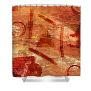 Fire Triangle Shower Curtain