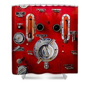 Firetruck Auxiliary Pump Controls Shower Curtain