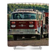 Fire Truck  Engine 13 Village Of Tully New York Pa Shower Curtain