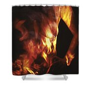 Fire Two Shower Curtain by Arla Patch