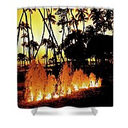 Fire Water Shower Curtain