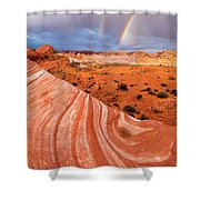 Fire Wave Covenant Shower Curtain